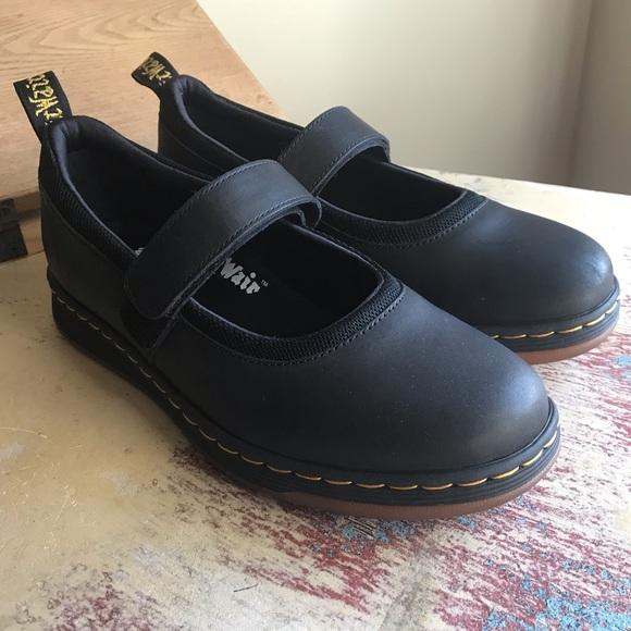 Dr Martens Askins Black Leather Mary